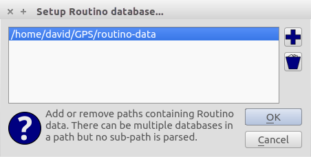 Routino path database